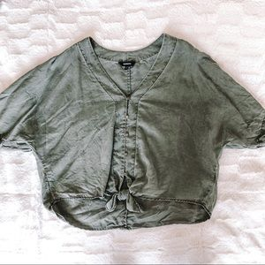 Cropped express blouse